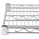 조정가능한 4개의 층 크롬 강철 플레이트 저장 선반 시스템