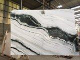 Panda de losas de mármol blanco&Mosaicos pisos de mármol&Albañilería