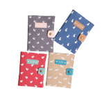 Lock를 가진 실크 Screen Printing Fabric Cloth Cover Notebook