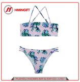 2018 neue reizvolle Büstenhalter-Riemen-Druck-Badeanzug-Frauen-heißer Sommer-Strandswim-Bikini