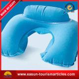 Companhia aérea floco transparente travesseiro pescoço inflável