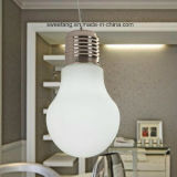 Modernes transparentes Birnen-Anhänger-Licht