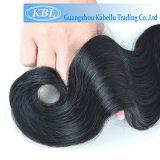 Cheveux humains brésiliens neufs de noir de gicleur de Kbl