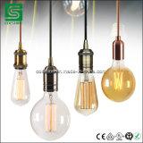 Base ligera pendiente de la lámpara de Colshine Edison E27 de la vendimia de cobre de los sostenedores