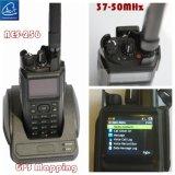 Radio Handheld táctica inferior del VHF, radio portable en 37-50MHz/50-66/MHz 66-88MHz/30-88MHz