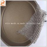 鋳鉄鍋の小鍋のステンレス鋼のチェーン・メールの洗剤