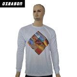 T-shirt en bonne santé d'usure de sports de polo de Hip Hop de polyester de Subliamtion de dri à la mode