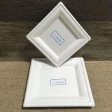 Пульпа багассы Tableware естественного цвета Biodegradable покрывает квадрат
