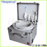소형 치과 휴대용 치과 단위 금속 이동할 수 있는 사례 4 구멍 Hesperus