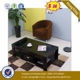 ガラス上の木のコーヒーテーブルの現代居間の家具(UL-MFC0663)