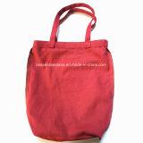 L'usine produit OEM de toile de coton rouge d'impression personnalisée fourre-tout sac shopping de levage