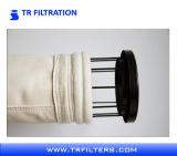 De hete Glasvezel van de Filter van de Zak van de Verkoop met Gelamineerde Teflon