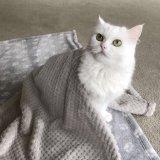 Manta del paño grueso y suave para la manta caliente del perro del amortiguador de la base del sueño de los gatos