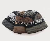 Хлопок Camo Mens покрывает шлем Beanies двойного слоя катаясь на лыжах теплой связанный зимой катаясь на коньках (HW411)