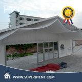 Witte Tent met de Sterke Zijwanden van de Structuur en van Vensters