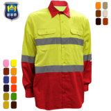 Het katoenen/van de Polyester Overhemd van Reflectiveness Workwear voor de Mensen van het Werk van de Industrie