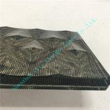 Schwarzes Quadrat-Gewebe-Kunst-Glas mit Welle rüttelte Glas oben