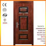 Porte de grès en bois Extérieur Porte de sécurité en acier