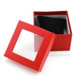 La joyería artesanal rojo Caja con ventana de PVC