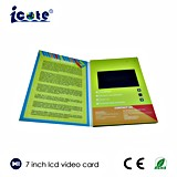 Buen precio folleto video del LCD de 7 pulgadas para la promoción/el regalo, precio del asunto de fábrica