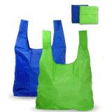 Drukte de Opnieuw te gebruiken Douane van de polyester de Vouwbare PromotieZakken van de Zak van de Kruidenierswinkel af