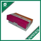 Напечатанная коробка донута качества еды упаковывая бумажная