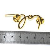Divisa de encargo del oro de la insignia promocional de calidad superior al por mayor del metal