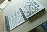 Mosaico de piedra Showroom exposición muestra la página 4 de la piedra de plástico Muestrario