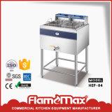 Friteuse profonde de cuisine de casse-croûte de double de gaz commercial de cylindre