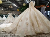 Stutzen-Hochzeits-Kleid des Champagne-Ballkleid-V