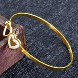Commerce de gros d'usine en acier inoxydable bracelet réglable simple coeur