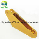 Goldene Anodisierung für CNC-maschinell bearbeitenteil-Verbinder-Arm