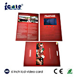 Brochure visuelle d'affichage à cristaux liquides de 6 pouces pour la publicité d'affaires