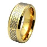 Anello del tungsteno del laser di doratura elettrolitica di alta qualità dei monili del corpo (TSTG003)
