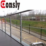 Pêche à la traîne ronde de terrasse de poste d'acier inoxydable de balcon de qualité de Foshan AISI 304/316