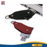 질 주문 Bussiness 최고 선물 가죽 USB 지팡이 가죽 USB 섬광 드라이브