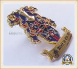 주문을 받아서 만드십시오 금 도금 접어젖힌 옷깃 Pin (MJ-PIN-141)를