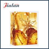 Sacs à provisions estampés d'emballage de cadeau de Noël de papier enduit de la promotion 128GSM