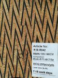 Cuoio alla moda del tessuto del sughero naturale di disegno del reticolo per la decorazione dei sacchetti dei pattini (K18-04)
