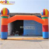 カスタマイズされる安く膨脹可能な気球のイベントの虹の入口のトンネルのアーチ道のアーチを広告する