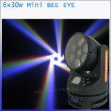 مرحلة إنارة [6إكس30و] حزمة موجية [لد] متحرّك رئيسيّة خفيفة مصغّرة نحلة عين
