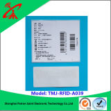 La ropa RFID marca la etiqueta engomada de la frecuencia ultraelevada con etiqueta RFID