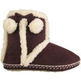 Супер теплые ботинки снежка ткани замши