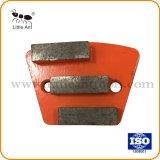 Trois dents Metal Type de ventilateur de la plaque de broyage de diamants pour le béton.