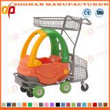 Supermarkt-Euroart-Zink-oder Chrom-Einkaufswagen (Zht16)