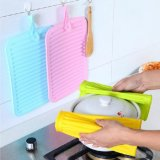 Ustensiles de cuisine en silicone antidérapant portable Fordable résistantes à la chaleur Hot Pot titulaire mat