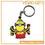 Trousseau de clés chaud bon marché de PVC de la vente 3D pour les cadeaux (YB-PK-47)