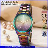 Reloj ocasional de la manera de las señoras del acero inoxidable del ODM (WY-P17003A)