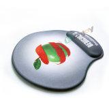Esteira feita sob encomenda do rato do gel do logotipo com sustentação do descanso de pulso