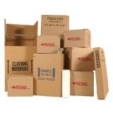 Brown гофрировал упаковывая коробку для перевозкы груза и двигать